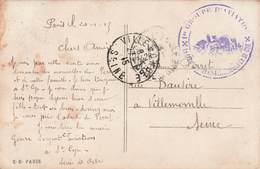 Marcophilie Cachet Guerre 1914 1918 1er Groupe D' Aviation St Saint Cyr 1915 Sur Carte Postale - Poststempel (Briefe)