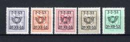 PRE630/634 MNH** 1953 - Cijfer Op Heraldieke Leeuw Type D - REEKS 44 - Préoblitérés