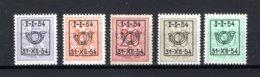 PRE640/644 MNH** 1954 - Klein Staatswapen Opdruk Type D - REEKS 46 - Préoblitérés