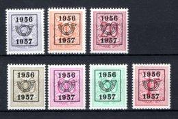 PRE659/665 MNH** 1956 - Cijfer Op Heraldieke Leeuw Type E - REEKS 49 - Precancels