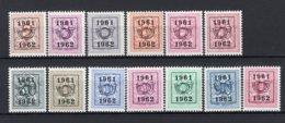 PRE712/724 MNH** 1961 - Cijfer Op Heraldieke Leeuw Type E - REEKS 54 - Precancels