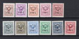 PRE747/757 MNH** 1964 - Cijfer Op Heraldieke Leeuw Type F - REEKS 57 - Precancels