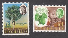 Seychelles 1962  75c & 1 Rupee  SG206 & SG207  MH - Seychellen (...-1976)
