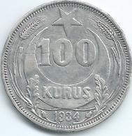 Turkey - 100 Kurus - 1934 - KM860.2 - Very Scarce - Turquia
