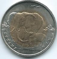 Turkey - 2009 - 1 Lira - Elephant & Calf - KM1263 - Only 5,000 Minted - Turquia