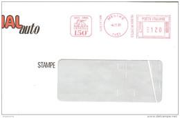 ITALIA - 1981 MESTRE (VE) 150° ASSICURAZIONI GENERALI (Leone Di S. MARCO)  - Ema Affranc. Mecc. Rossa Red Meter - 1227 - Marcophilie - EMA (Empreintes Machines)
