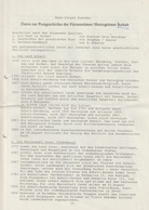 Literatur / Daten Zur Postgeschichte Der Fuerstentuemer/Herzogtuemer Anhalt, 5 Seiten (BD87) - Philatelie Und Postgeschichte