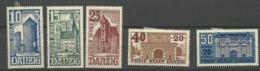 Danzig  1936  Mi.Nr. 262-266 Winter Aid Buildings  Set Mint Hinged X - Danzig