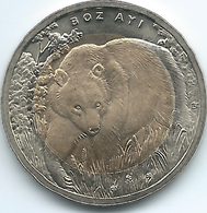 Turkey - 2011 - 1 Lira - Brown Bear - KM1276 - Only 15,000 Minted - Turquia
