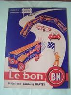 """PROTEGE-CAHIER. PUBLICITE. BISCUITERIE NANTAISE """"LE BON"""".100_9936TRC""""a"""" - Protège-cahiers"""