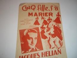 Cinq Filles A Marier Par Jacques Helian - Liederbücher