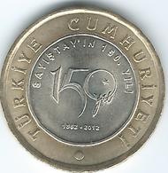 Turkey - 2012 - 1 Lira - 150th Anniversary Of Court Of Acconts - KM1282 - Turquia