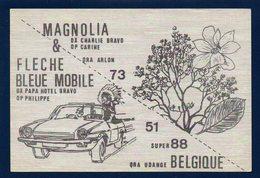 Udange ( Arlon). Carte QSL / Magnolia & Flèche Bleue Mobile - Arlon