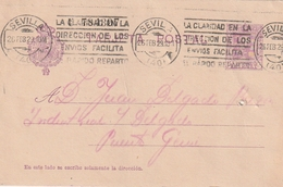 Spanien / 1929 / Postkarte Masch.-Stempel SEVILLA (BD99) - Ganzsachen