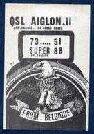 Udange ( Arlon). Carte QSL : Aiglon II - Arlon