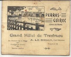 PERROS GUIREC. 22 . GRAND HOTEL DU TRESTRAOU . DEPLIANT - Advertising