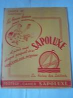 """PROTEGE-CAHIER. PUBLICITE. LESSIVE """"SAPOLUXE"""".100_9947CPLT.MEL. - Protège-cahiers"""