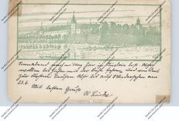 NEUMARK - KÜSTRIN / CÜSTRIN / KOSTRZYN NAD ODRA, Wandervogel E.V., Das Schloß, Künstler-Karte, Klebereste - Neumark