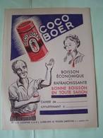"""PROTEGE-CAHIER. PUBLICITE. BOISSON """"COCO BOER"""".100_9949CPLT.MEL. - Protège-cahiers"""
