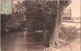CPA 02 (Aisne) Brissay-Choigny - Environs De La Fère, Les Bords De L'Oise TBE 1907 - Other Municipalities