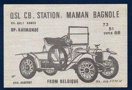 Habergy (Messancy). Carte QSL: Maman Bagnole - Messancy