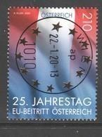 """Österreich 2020: """"25.Jahrestag EU-Beitritt Österreichs"""" Gestempelt (siehe Foto/ Scan) - 2011-... Gebraucht"""