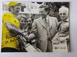 Bernard THEVENET - Signé / Hand Signed / Dédicace Authentique / Autographe - Ciclismo
