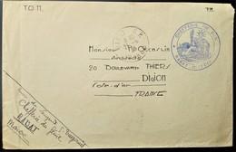 235 MAROC MARRUECOS MOROCCO MAROKKO 1935 RABAT CHAFFERIE DU GÉNIE MILITAIRE - Cartas