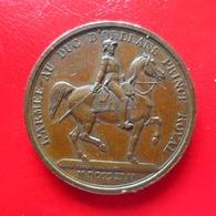 Louis Philippe 1er - Médaille Cuivre - L'Armée Du Duc D'Orléans Prince Royal 1842 - 9g 27mm - Adel