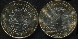 Mexico 20 Pesos. 2014 (Bi-Metallic. Coin KM#979. Unc) Taking Of Zacatecas - Mexico