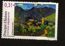 Andorre Espagnol Andorra 2008 N° 345 ** Patrimoine Culturel, Sispony, Tableau, Carme Massana, Pyrénées, Montagne Clocher - Spanish Andorra