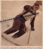 1956 : SKI, CHAMPIONNATS DE FRANCE, SERRE-CHEVALIER, GÉRARD PASQUIER (CHÂTEL, MONT-SAVONNEX, MEGÈVE), 5° DU GÉANT - Collections