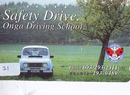 TELEFONKARTE JAPAN * MORRIS  (21)   Phonecard  * VOITURE * AUTO * CAR * Telecarte Japon - Cars