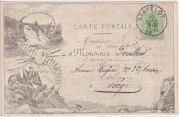 29508g   PONT - VILLAGE - Stavelot Attractions - 1891 - Stavelot