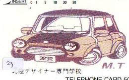 TELEFONKARTE JAPAN * MORRIS MINI (23)   Phonecard  * VOITURE * AUTO * CAR * Telecarte Japon - Cars