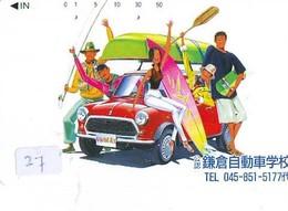 TELEFONKARTE JAPAN * MORRIS MINI (27)   Phonecard  * VOITURE * AUTO * CAR * Telecarte Japon - Cars