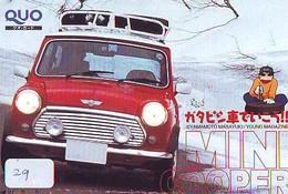 TELEFONKARTE JAPAN * MORRIS MINI (29)   Phonecard  * VOITURE * AUTO * CAR * Telecarte Japon - Cars