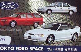 TELEFONKARTE JAPAN * FORD (128)   Phonecard  * VOITURE * AUTO * CAR * Telecarte Japon - Cars