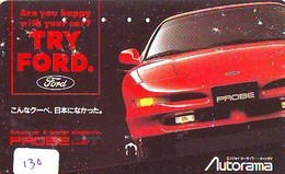 TELEFONKARTE JAPAN * FORD (130)   Phonecard  * VOITURE * AUTO * CAR * Telecarte Japon - Cars