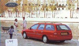TELEFONKARTE JAPAN * FORD (134)   Phonecard  * VOITURE * AUTO * CAR * Telecarte Japon - Cars