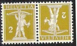 Schweiz Suisse  1909: Kehrdruck Tête-bêche Zu K5 Mi K4 III  ** Postfrisch MNH (Zu CHF 7.00) - Tête-Bêche