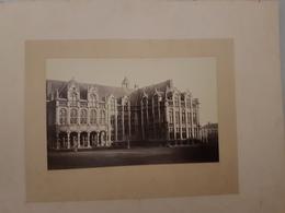 Lot De 2 Photos ( Grand Format Sur Papier Albuminé ) Palais Liège , Place De L'Hotel De Ville De Bruxelles Vers 1890 - Photos