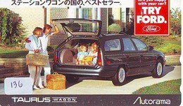 TELEFONKARTE JAPAN * FORD (136)   Phonecard  * VOITURE * AUTO * CAR * Telecarte Japon - Cars