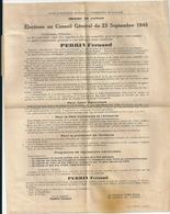 Tract Électoral Elections Cantonales Scrutin 23 Septembre 1945 Canton De Gannat (Allier) Fernand PERRIN Parti Communiste - Documents Historiques