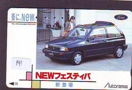 TELEFONKARTE JAPAN * FORD (141)   Phonecard  * VOITURE * AUTO * CAR * Telecarte Japon - Cars