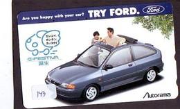 TELEFONKARTE JAPAN * FORD (143)   Phonecard  * VOITURE * AUTO * CAR * Telecarte Japon - Cars