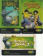 3 XThailand Phonecard 12Call Movie FilmThe Jungle Book 2 - Film