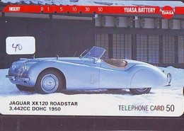 TELEFONKARTE JAPAN * JAGUAR (40)   Phonecard  * VOITURE * AUTO * CAR * Telecarte JAPON - Cars