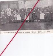CP 62 - CAUCHY LA TOUR - Jeunes Alsaciennes En Attendant Le MARECHAL PETAIN   (1 Coin Cassé) - France