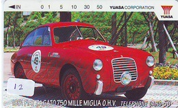 TELEFONKARTE JAPAN * FIAT (12)   Phonecard  * VOITURE * AUTO * CAR * Telecarte JAPON - Cars